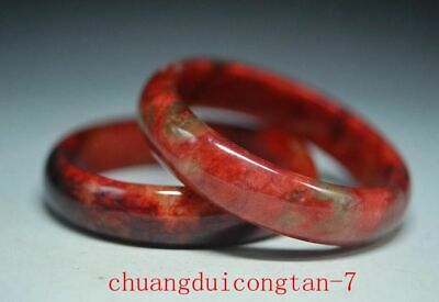 Good quality Chinese old jade Hand Carved Bracelet 58-60mm