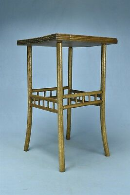 """Antique SALESMAN SAMPLE SQUARE OAK PARLOR TABLE SMALL SIZE 18"""" TALL OLD #05610"""