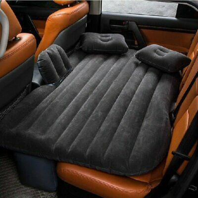 "53"" Car Air Bed Inflatable Mattress Back Seat Cushion With Pillows For Travel MX"