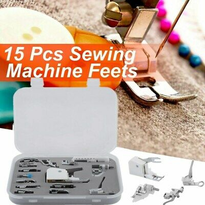 Sewing machine presser walking feet foot kit set of 15X brother Janome Singer MX