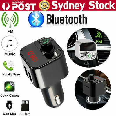 Wireless Bluetooth FM Transmitter Handsfree Car Kit Radio MP3 Player USB Charger
