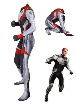 Avengers Endgame Kids Adult Quantum Realm Zentai Cosplay Costume Jumpsuit Outfit