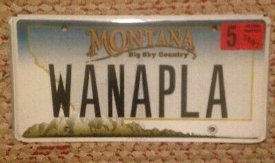 Montana Vanity Personalized License Plate Want To Play?? Wanna Play Fool Around