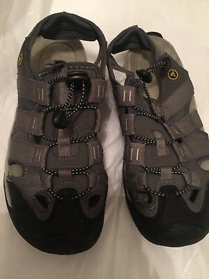 c3029097cf09 ATIKA Men s Sports Sandals Outdoor Water Shoes 3Layer Toecap Gray Size 9