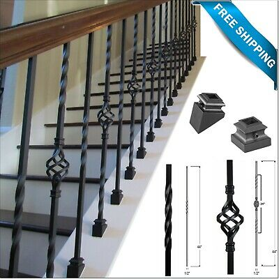 Iron stair parts - Iron balusters - Iron stair railing - Spindles for stairs