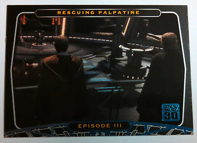 Star Wars 40th Anniversary Blue Base Card #21 The Opening of Star Wars