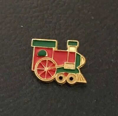 """Vintage 5/8"""" JHB Realistic Novelty Figural Metal Red & Green Train Engine Button"""