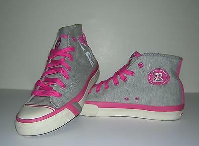 749dde23ca Pro Keds Rocawear Hi-Tops Heather Gray Hot Pink Beaded Embroidery Size 10  Euc!