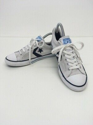 Child's Unisex Converse All Star White & Navy Pumps Plimsolls Trainers Size Uk 5