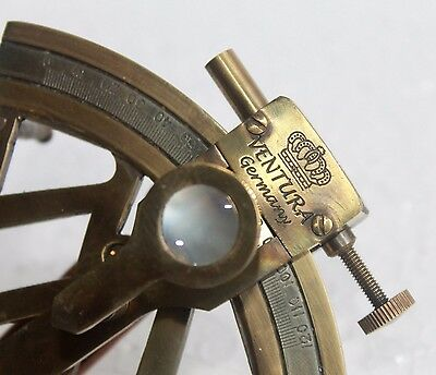 Solid Brass Marine Sextant Germany Design Collectible Astrolabe Sextant Decor
