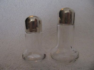 french silverplate & glass salt & peppers shakers Christofle design