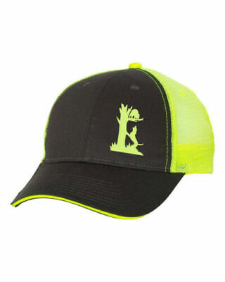03555355374db Hat Gray Front Yellow Cap Back Coonhound Dog Hunter Coon Hunt Hound Tree  Treeing