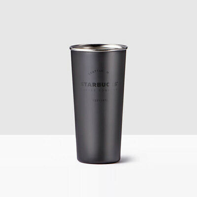 [Starbucks]  Matte Black Stainless Steel Cold Brew Cup - 16 oz