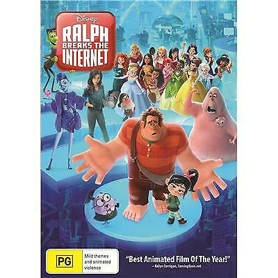 Ralph Breaks The Internet Dvd, New & Sealed, 2019 Release, Free Post