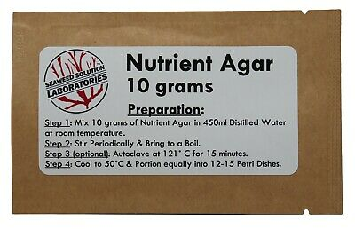 Nutrient Agar 10 grams - FREE SHIPPING!!!
