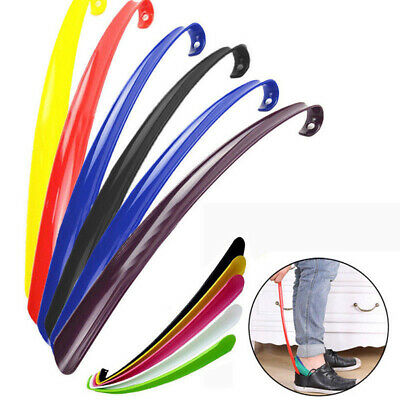 Useful Plastic Shoe Horn Long Handle Durable Shoehorn Aid Stick for Home Hotel