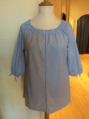 1ebfdeef68 Betty Barclay Top Size 16 BNWT Blue And White Stripe RRP £80 Now £36