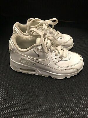 NIKE AIR MAX Girls Boys Kids Toddler White Athletic Shoes Size 11C