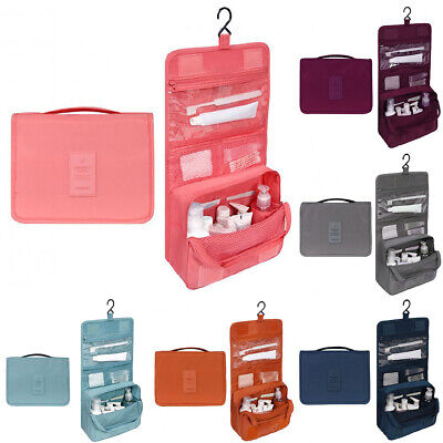 Travel Cosmetic Makeup Toiletry Case Wash Organizer Storage Pouch Hanging Bag