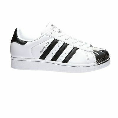 WOMEN MEN ADIDAS superstar metal toe 80s Gr:41 13 BB5114 white black samba flux