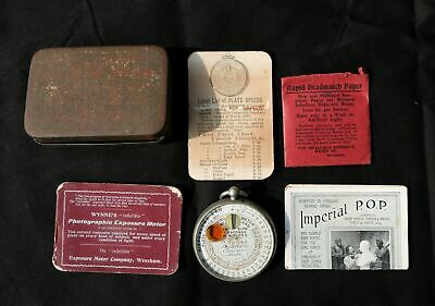 Orig Wynne's Photographic Exposure Meter With Case & Instructions