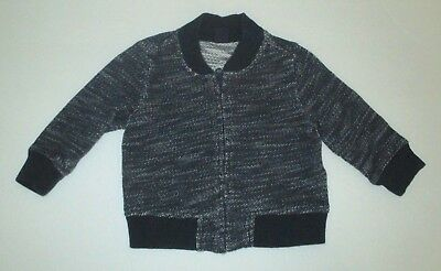 a1a9761793436 Infant Boys Baby Gap Navy Blue Speckle Zipper Cardigan Sweater Size 6-12  Months