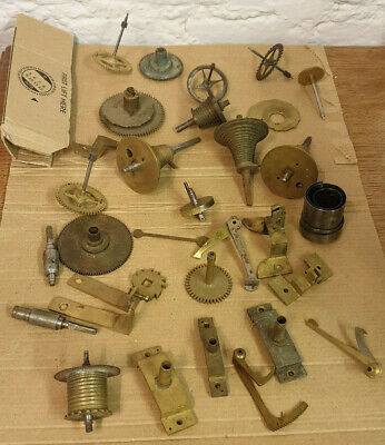 Large Assortment Of Old Fusee Clock Parts-No Reserve!!!