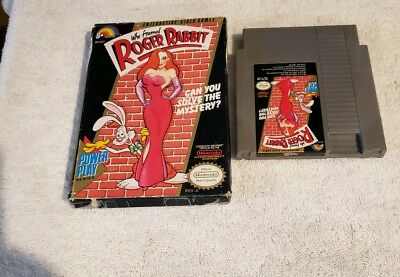 Who Framed Roger Rabbit Nes Nintendo Video Game In Box