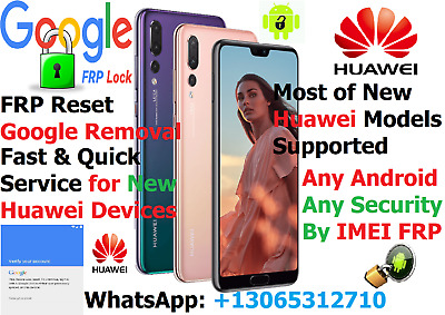 FRP/Google Account Removal for All Huawei P10,P20,P30 MATE Lite/Pro Android 8/9