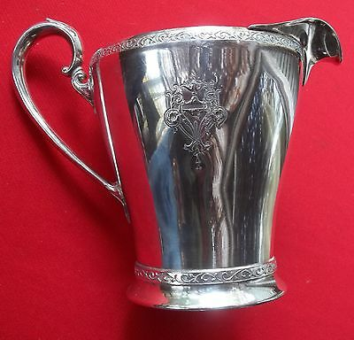 RARE 1925 Triumph Pattern 2 Quart Water Milk Pitcher By Rogers Bros Silverplate