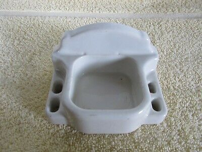 Vintage Bathroom Toothbrush & Cup Holder Porcelain, Wall Mount,Old House Salvage