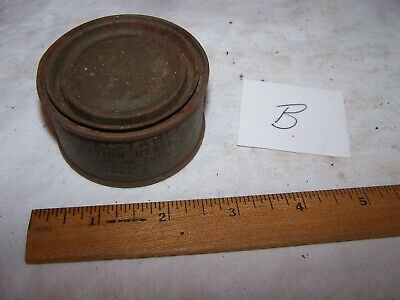 WW2 Original US Military Army FUEL TABLET RATION HEATING Metal Tin Can - Lot B