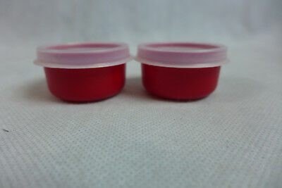 Tupperware Smidgets Lot Of 2 Red With Sheer Seals Gadgets New