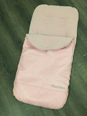 Pink Massimo Leatherette Footmuff Fleece Liner