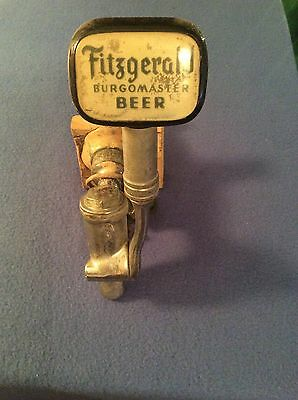 """Vintage Fitzgerald """"Burgomaster"""" Beer Tap Very Old Solid Brass Rare Collectible"""