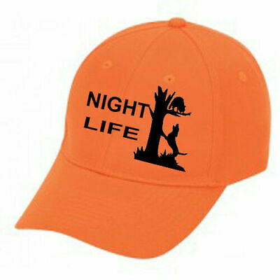 6b02fe0c9ab78 Cap Hat Orange Solid Back Coon Hunter Coonhound Hunting Dog Hound Night Life