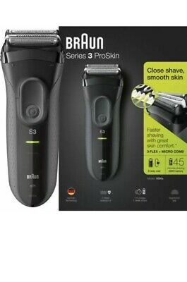 NEW BRAUN Series 3 ProSkin 3000s Men Electric Rechargeable Shaver Smooth Razor