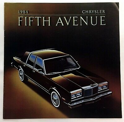Car Auto Brochure 1984 Chryler Fifth Avenue 8 Pages