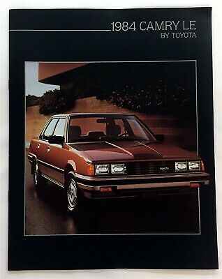 Car Auto Brochure 1984 Toyota Camry Le 10 Pages
