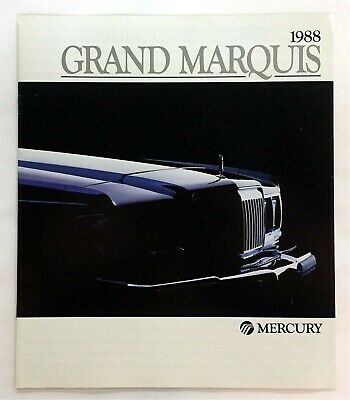Car Auto Brochure 1988 Mercury Grand Marquis 12 Pages