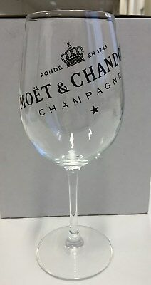Moet Chandon Ice Imperial Champagne Glasses X 2 Glass Not Plastic Rare New