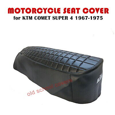 KTM COMET 50 SUPER 4  1967-1975 SEAT COVER with WHITE KTM LOGO