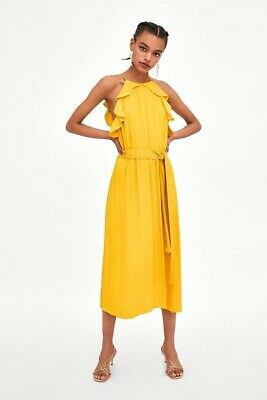 52085d7e0a6 BNWT WHISTLES MUSTARD Yellow Long Sleeve Lace Dress Size 10 - £85.00 ...