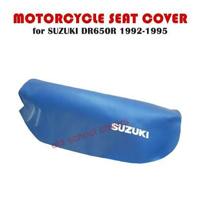 SUZUKI DR650 R DR650R 1992-1995 BLUE SEAT COVER with WHITE LOGOS DR650