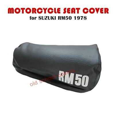SUZUKI RM RM 50 1978 SEAT COVER with WHITE RM50 LOGOS