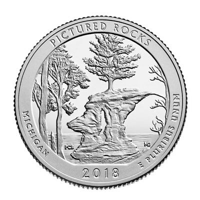 2018-S Pictured Rocks National Park Quarter -  SILVER Deep Cameo Proof