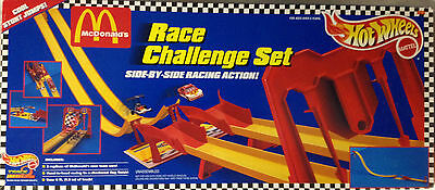 """HOT WHEELS /""""MCDONALD/'S/"""" RACE CHALLENGE SET-HARD TO FIND-1996--NEW IN BOX"""