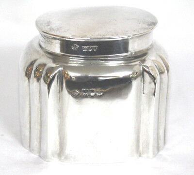 Antique English Sterling Silver Tea Caddy 19th Century