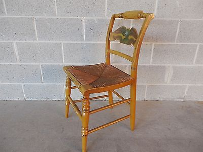 HITCHCOCK Rush Bottom Eagle Stenciled Side Chair