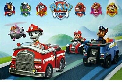 Paw Patrol Vehicles Kids Cartoons Maxi Poster-BUY ANY 2(Posters) GET 1 FREE!!!